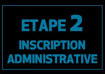 Etape 2 Inscription administrative de l'EUR CREATES