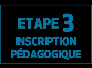 Etape 3 Inscription pédagogique de l'EUR CREATES
